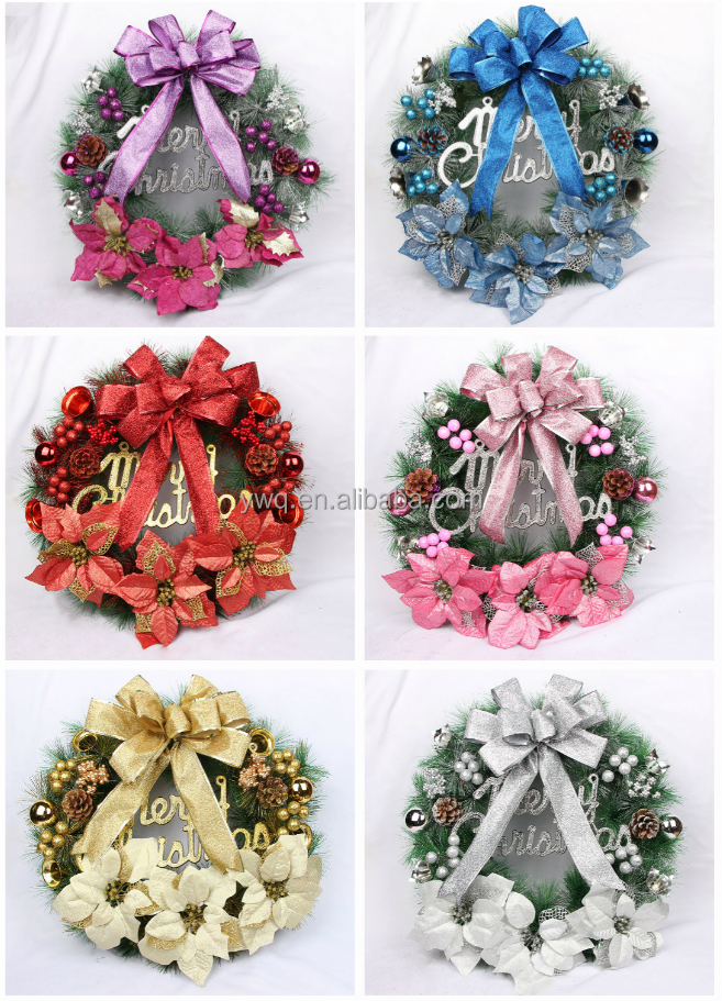 unique wreath 35cm pvc 105tips ornament 2017 hot wreath garland