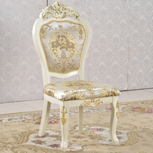 Hotel general use gold gilt armless chair solid rubber wood gold leaf chair