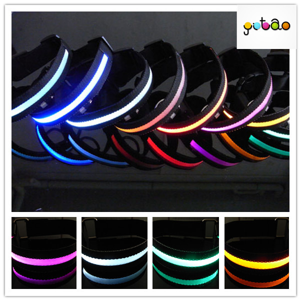 Promtional led lighting black pattern dog collar