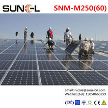 Factory wholesale solar panel with flat roof mounting bracket
