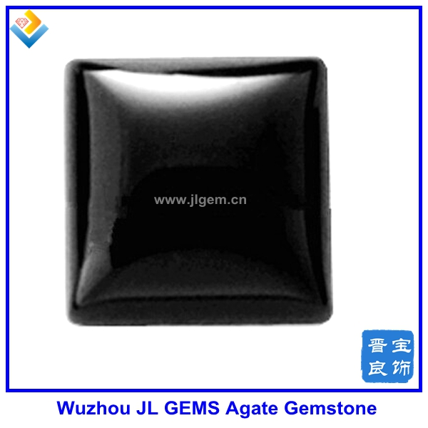 Chinese 4mm square black agate for fashion jewelry