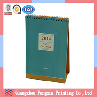 2015 Spiral Bound Yearly Mini Standing Paper Pop-up Calendar