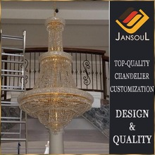 house led decoration indoor golden crystal chanderlier light