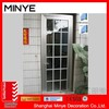 safety door design with grill glass design/House design aluminum door