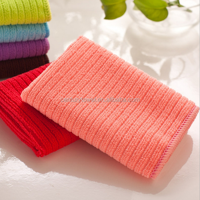 30*30cm warp knitting microfiber car cleaning towel microfibre towel