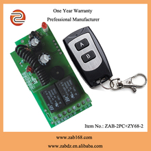 DC 12V 2CH RF Relay Smart Wireless Remote Control Light Switch Garage Door Remote Opener 433Mhz Transmitter with Relay Receiver