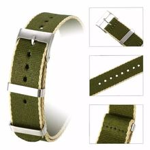 14 16 18 20 22 24 mm Stainless Steel Buckle Custom Printing Nato Nylon Watch Strap Band