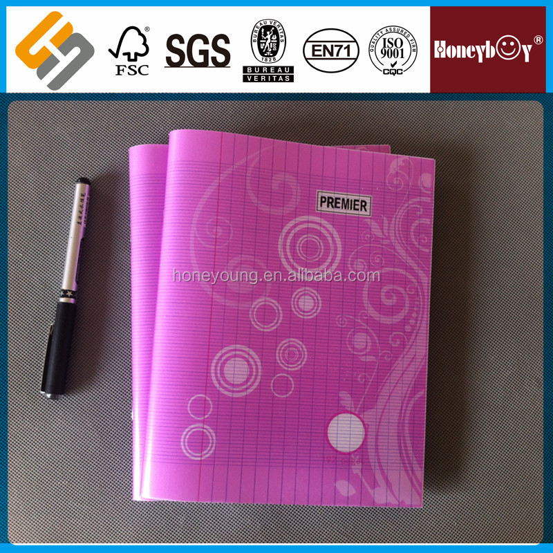 CMYK 192 pages 55 gsm paper PP denim cover notebook