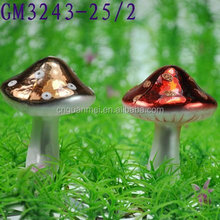 cute color painting glass mushroom / cheap glass gift for christmas