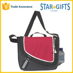 Wholesale Two Tone Personalized Polyester Bike Messenger Bag With Bottle Holder