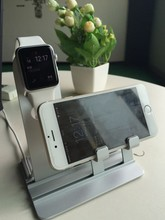 new arrived aluminium charger stander for apple watch charger stander 2in1stander for iphone stander accessoires