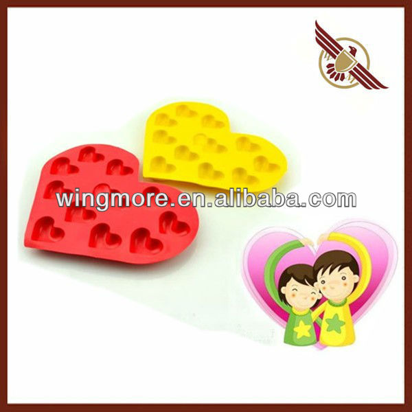 Flexible Silicon Cake Mold in Heart Shape WM-SPV007