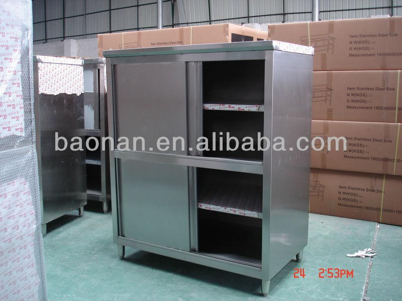 In acciaio inox attrezzature da cucina usato armadio da cucina ...