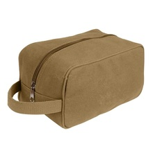 Man Custom Cosmetic Cases Roomy Wholesale Zippered Canvas Travel Toiletry Bags