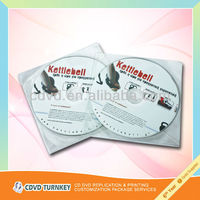 Wholesale customized cd with pvc sleeve