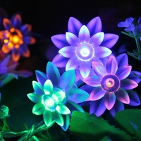 2016 decorative covers for string lights 20 LEDs Solar String Lights With Lotus