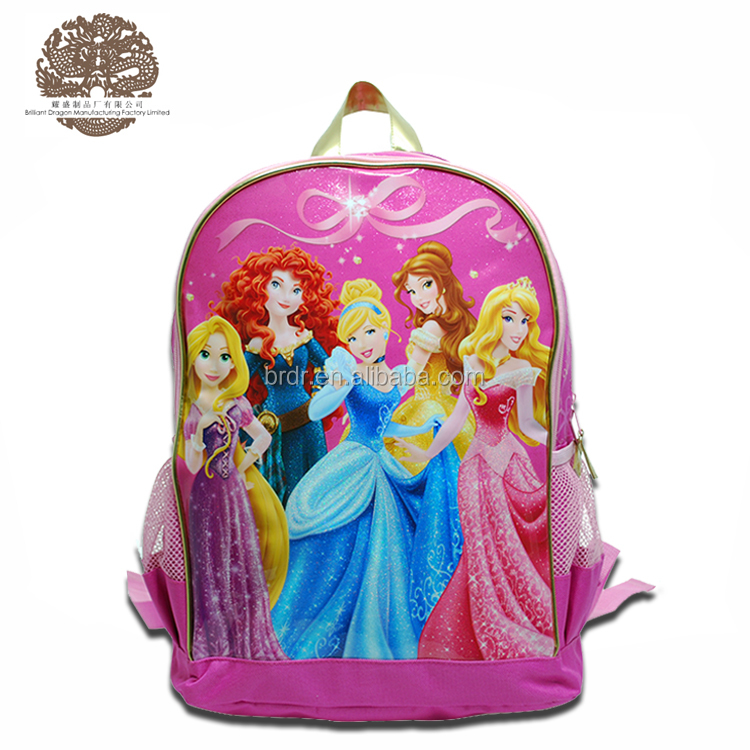Wholesale Low Price Cartoon Princess Backpack School Bag for Children