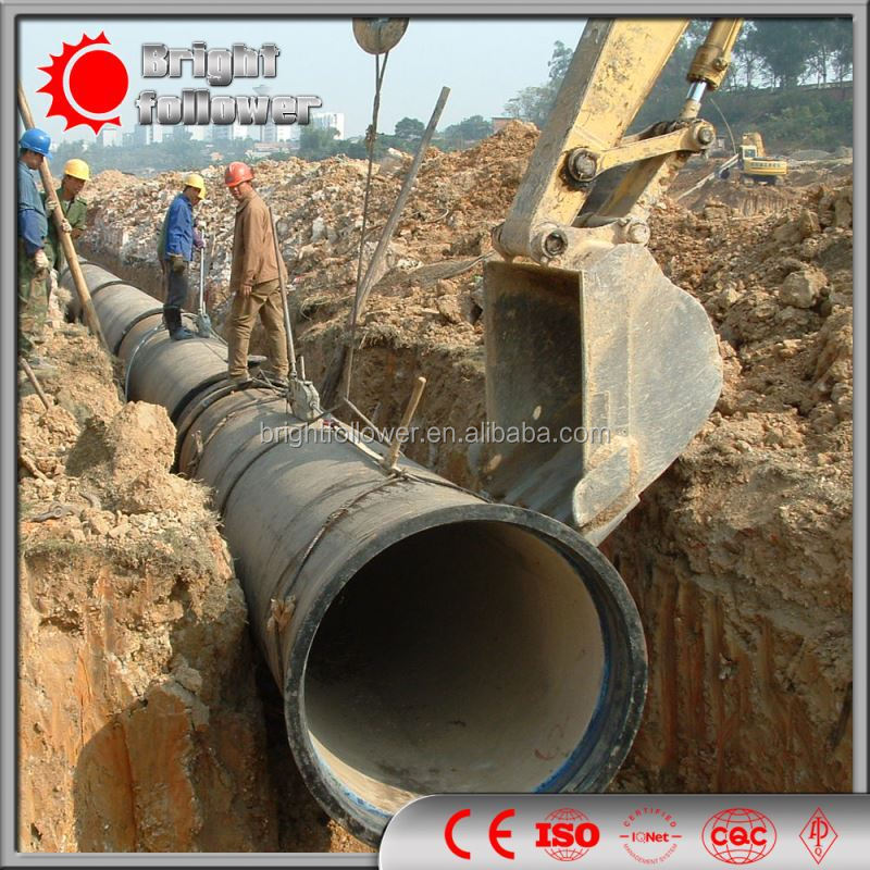EN598 Ductile Iron Pipe With High Alumina Cement Mortar Lining