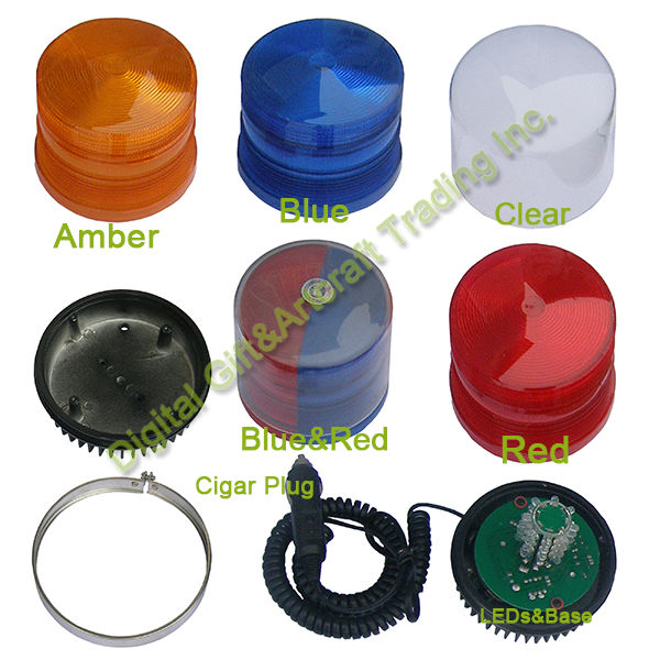 32-LED Amber Blue Red Car Emergency Traffic Advisor Flash Strobe Warning Light Bar