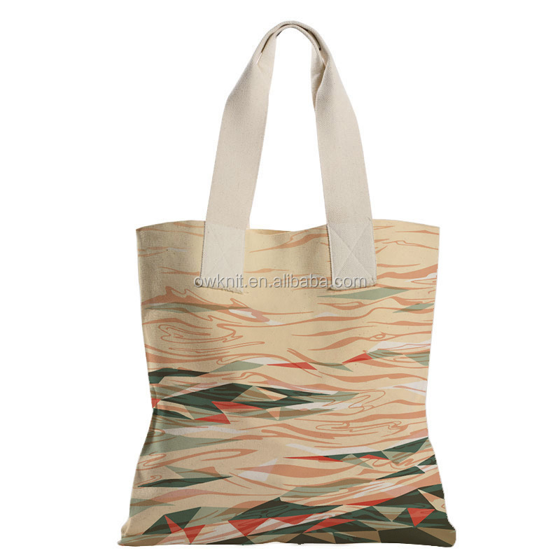 10OZ Cotton Customized Lady Hand Bag Inner Pockets Plain Wholesale Beach Stripe Canvas Tote Bag