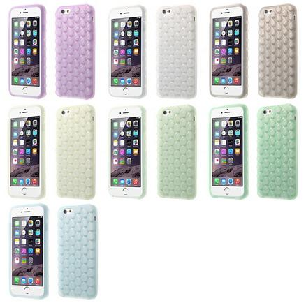 3D Bubble Design Soft Silicone Case for iPhone 6 Plus