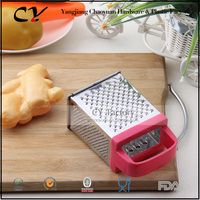 Comfortable grip multi functional stainless steel grater