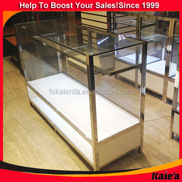 wholesale wooden mirrored jewelry cabinet for shop display