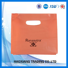 orange LDPE printing plastic Die cut bag