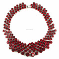 2017 new fashion red statement necklace red holiday necklace red holiday jewelry necklace