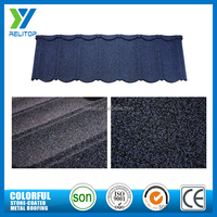 Modern stone coated architectural roof shingle colors