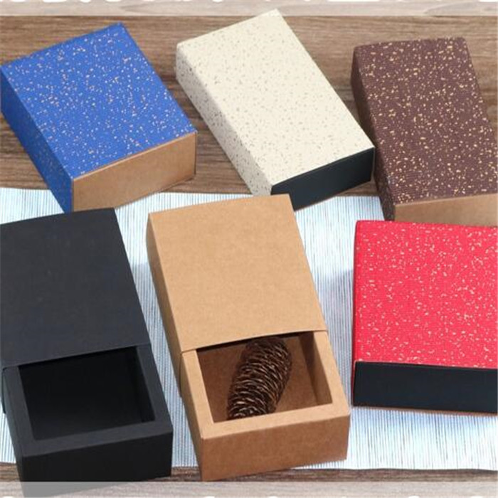 Wholesale a large number of custom size kraft paper box drawer box gift box
