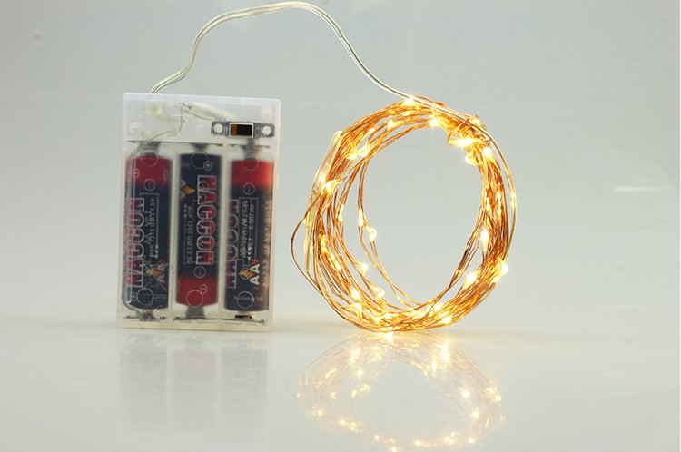 Factory Wholesale Christmas Indoor Outdoor Decoration 3AA Battery Operated Micro Led Copper Wire Fairy String Lights