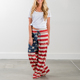 New Arrival Leisure American Flag Printed Pants For Women