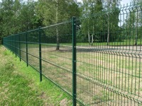 decorative wire mesh fence with galvanized and powder coated