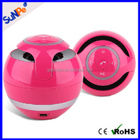 Hifi amplifier portable round ball shape music wireless LED mini speaker bluetooth with flashing light