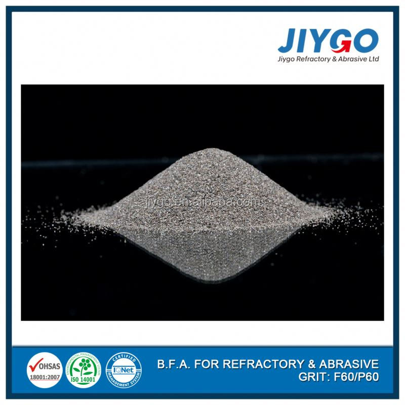 A grade brown aluminium oxide grit F24# for stainless steel sandblasting