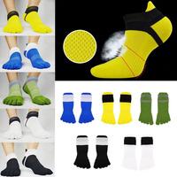 1 Pair Breathable Men's Socks Cotton Sports Five Finger Socks Toe Socks