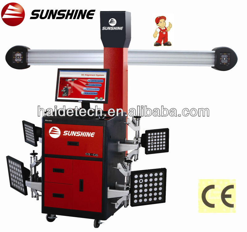 "manufacture ""sunshine"" brand 4 wheel align system SX-G6 with CE&ISO"