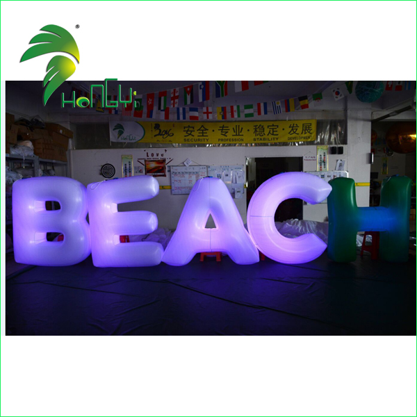 LED Lighting Inflatable Font , Inflatable Word Model Cheap on Sale