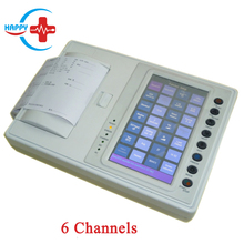 HC-H003 Best choice 6 Channel 12 leads price of ECG machine with 7 inch touch screen display