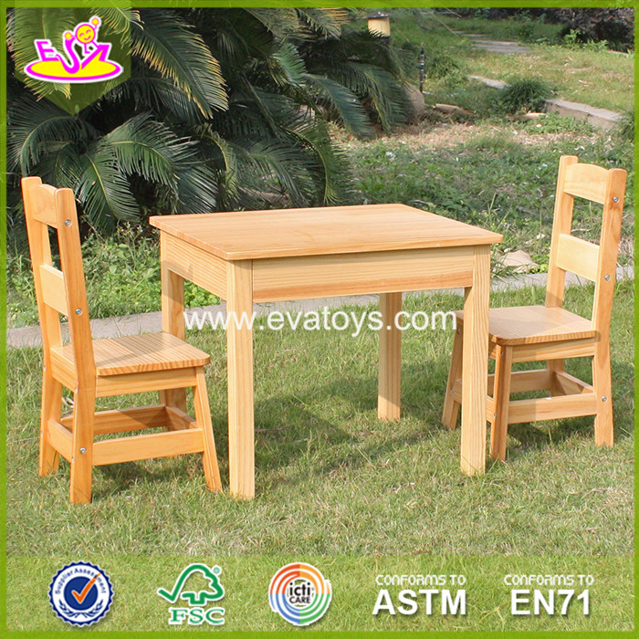 2017 New design wooden chairs and table set children wooden chaits and table set baby wooden chairs and table set W08G72