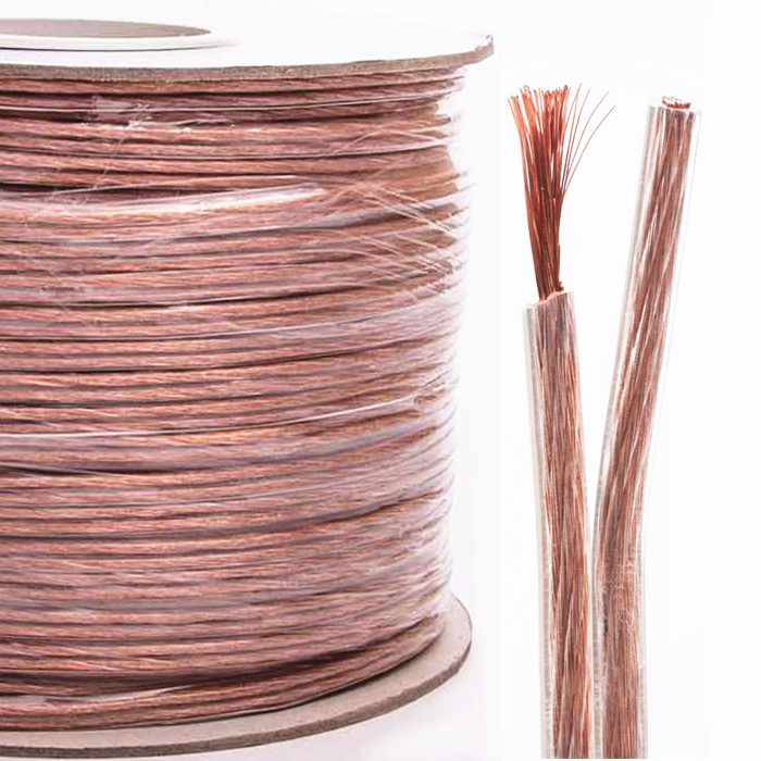 Speaker Wire Transparent 500ft 16AWG/2C on Spool