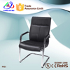 portable black leather ergonomic office chair no wheels