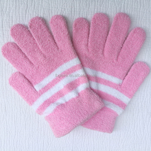 white striped smart t touch screen gloves soft touch gloves for couples