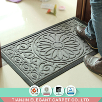 Amazon hot sale customized cheap anti slip rubber edge door mat for entrance