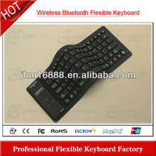 flexible silicon rubber bluetooth keyboard case for galaxy note 10.1