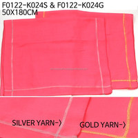gold yarn point polyester Very SOFT neon SCARF stole wrap F0122-K024S/G