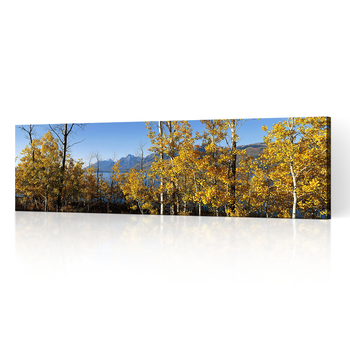 Wall Canvas Prints Art Colorful Autumn Landscape Oil Painting in the Mountains at Sunrise Nature Beauty | Modern Wall Decor