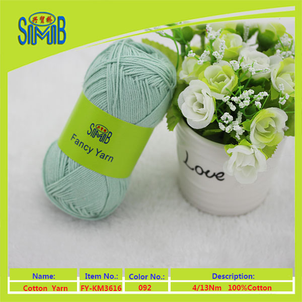 alibaba trade assurance bomull yarn company smb popular wholesales oeko tex high quality hand knitting cotton yarn importers