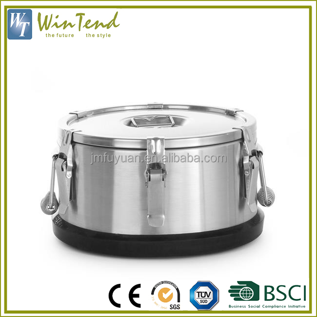 Insulated transport fancy stainless steel bulk food storage container to keep food hot
